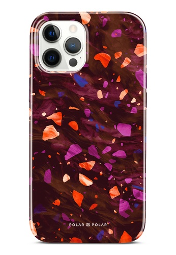 Polar Polar red Paprika Terrazzo Gem Dual-Layer Tough Case Glossy For iPhone 12 Pro Max DC80CAC346A946GS_1