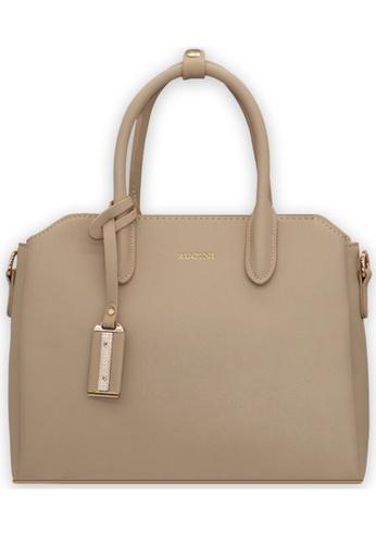 RUCINI beige Slanted Edge Handbag 9C3EDAC61599A8GS_1