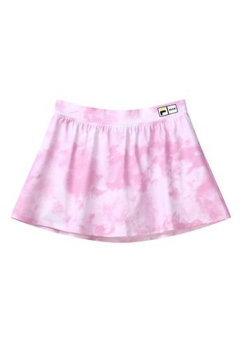 FILA pink FILA x MSGM Tie-Dye Skirt 0CB14AA9BEA7E5GS_1