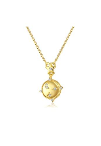 SUNRAIS gold High quality Silver S925 golden constellation necklace 67D0DAC6FD7BBEGS_1