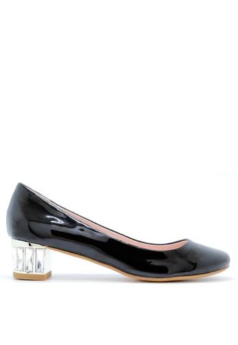 PRODUIT PARFAIT 黑色 漆皮鑽石跟鞋 A1F67SH8B43790GS_1