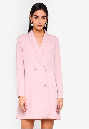 ZALORA pink Tuxedo Dress 546AEAA8A4B805GS_1