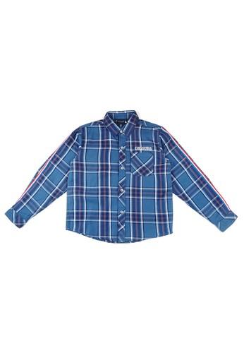 KIDS ICON blue KIDS ICON - Kemeja Anak Laki-laki COLOURS Checkered - CL502200180 F12D4KAB14A643GS_1