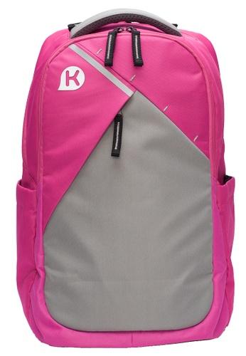 Kags pink KAGS Elgin Series Ergonomic School Backpack - Pink CFCE3KCA3E8C3BGS_1