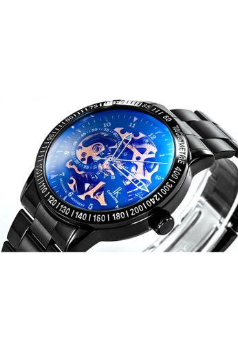 Ik Colouring lk Colouring Men Automatic Movement Mechanical Watch Black Strap Blue Glass IK781AC22MTHMY_1