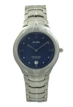 Image of ALBA Jam Tangan Pria - Silver Darkblue - Stainless Steel - AVKB21
