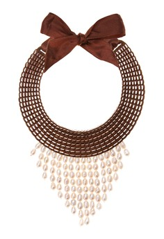 Norma Bib Necklace with Pearls