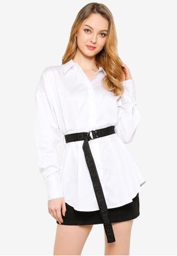 GUESS white Long Sleeve Rhianna Shirt 08D45AAD6FF114GS_1