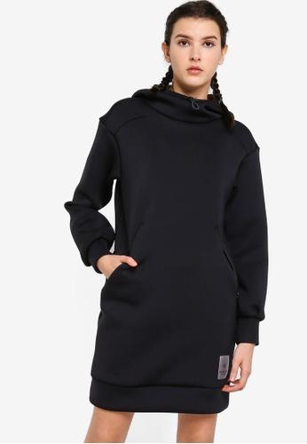 Calvin Klein black Spacer Spacer Hood Long Sleeve Dress - Calvin Klein Performance 4107CAACD21E17GS_1