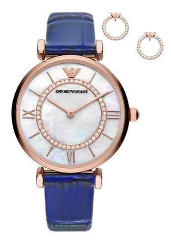 Emporio Armani blue Watch AR80053 46A9AACBDE5E3DGS_1