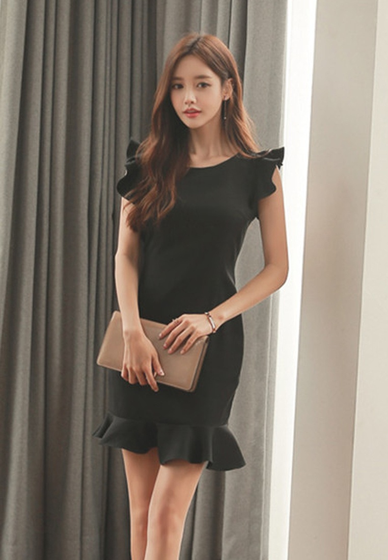Piece Sunnydaysweety Mermaid New Dress Black UA061926 One 2018 Black HF6zqCpww