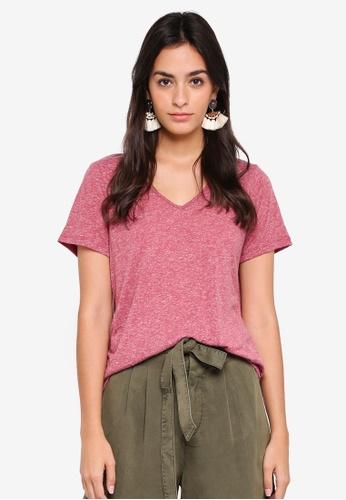 Vero Moda pink Linen Top A425AAA39BF21CGS_1