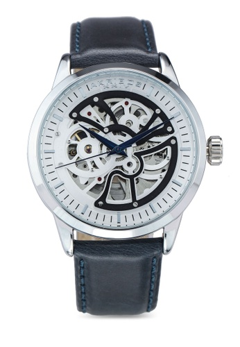 Akribos XXIV navy Automatic Leather Watch 03939AC9955766GS_1