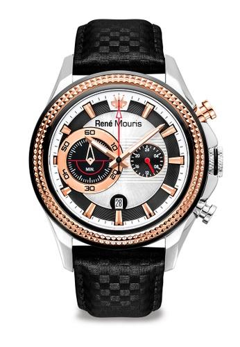 René Mouris black and multi Trofeo - 45mm Quartz Chronograph Watch F4C6FAC6A71ED1GS_1
