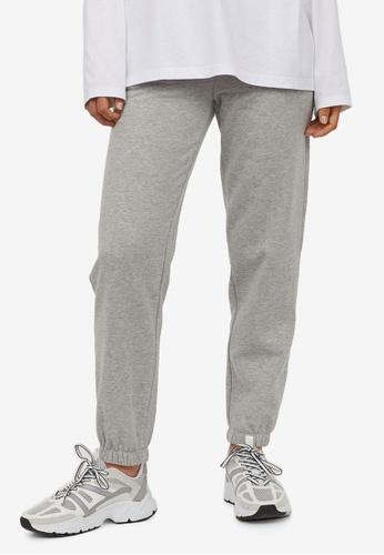 H&M grey Cotton-Blend Sweatpants ABDC8AAB6CE405GS_1