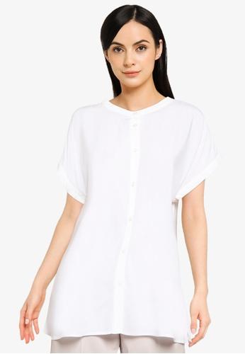 LOWRYS FARM white Collar Shirt FF9D3AAB954569GS_1