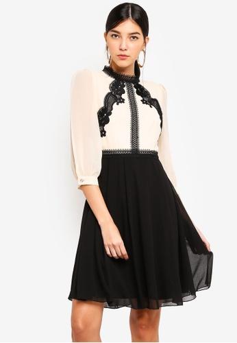 Little Mistress multi and beige Beige Trim Prom Dress 0F676AABB664F7GS_1