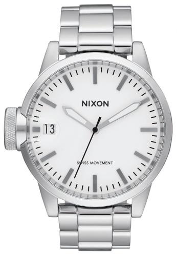 Nixon white and silver Nixon - Chronicle 44 - White NI855AC58SXXSG_1