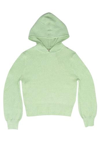ONLY green Florelle Life Long Sleeves Hood Sweatshirt A0F75KA4FB17A4GS_1