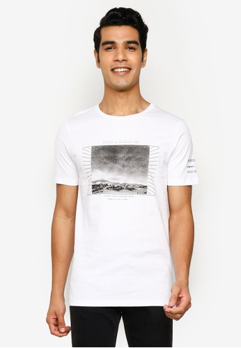 Jack & Jones white Frame Short Sleeve T-Shirt 1EC02AA13F0CC9GS_1