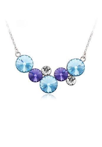 OUXI blue OUXI Clouds Glass Necklace OU821AC14OGFMY_1