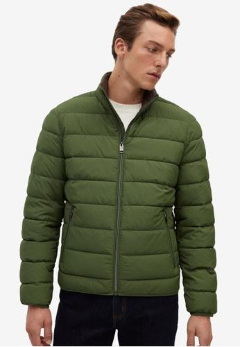MANGO Man 米褐色 Ultra-Light 菱格紋Coat A118FAA8E48630GS_1