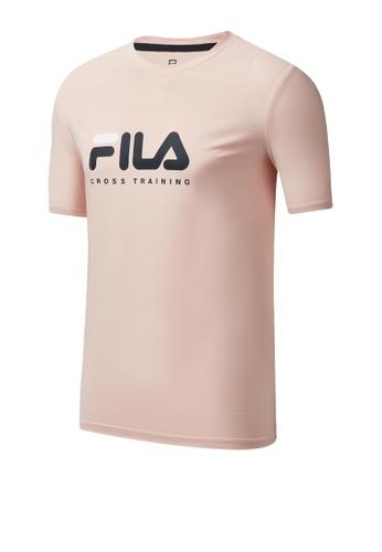 FILA pink Athletics Collection FILA CROSS TRAINING Logo T-shirt 7EEAAAAB801007GS_1
