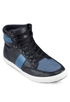 Faux Leather High Top Sneaker
