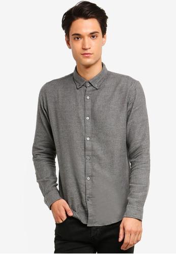 ESPRIT 灰色 長袖襯衫 4C4D9AA24E4ED5GS_1