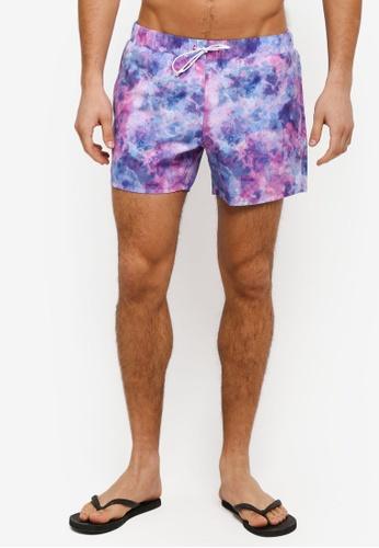 Topman pink Pink Texture Swim Shorts TO413AA0T1IXMY_1