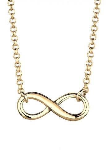 Elli Germany gold Perhiasan Wanita Perak Asli - Silver Kalung Basic Infinity Gold Plated 74BDEAC763E8A0GS_1