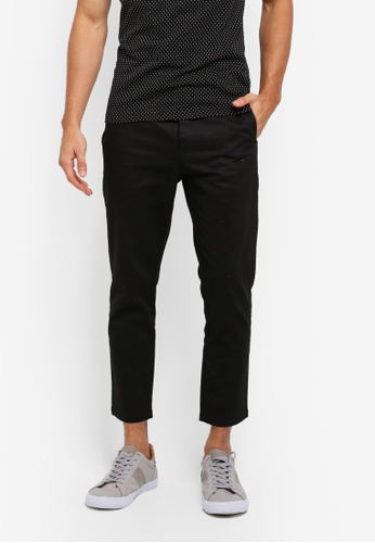 ZALORA black Cotton Button Fly Trousers 12ACAAAF203811GS_1