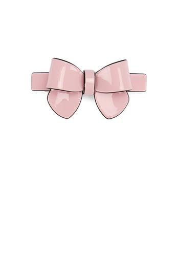 Glamorousky silver Fashion Simple Pink Ribbon Large Hair Slide DBB5BACC534C6CGS_1