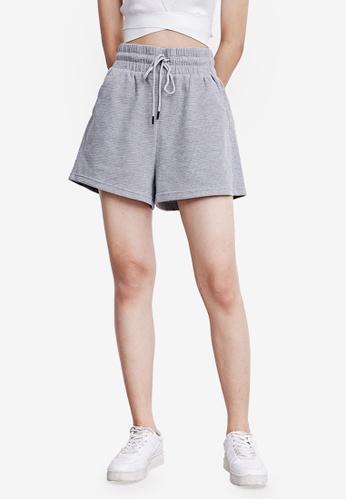 URBAN REVIVO grey Casual Shorts F64ACAAE38EFC0GS_1