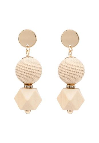 ALDO beige Novala Pierced Earrings AF4F2AC6957C77GS_1