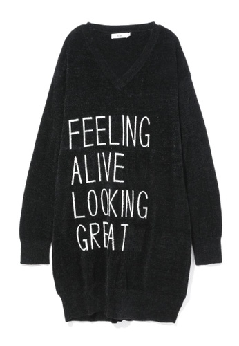 b+ab black Feeling Alive knit dress 9A914AA4909EB1GS_1