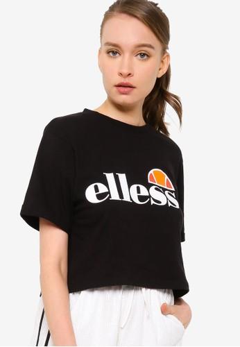 ellesse black Alberta Crop Tee Shirt - Ellesse Core 6ACA8AACBC72BBGS_1