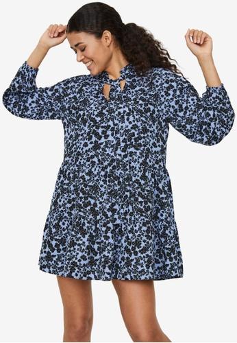 Vero Moda blue Lydia Long Sleeve Bow Tunic D8474AA5727AEEGS_1