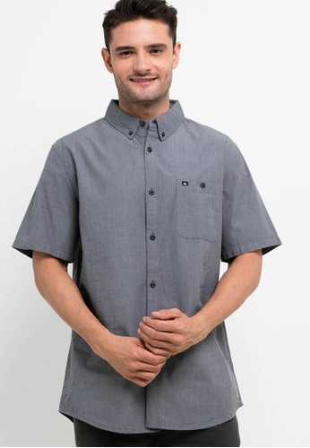 Quiksilver black Winfall Short Sleeve Shirt D0D6EAA2ACA7D1GS_1