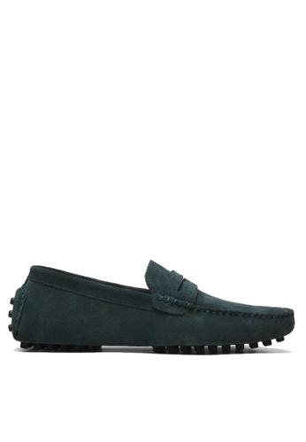 Twenty Eight Shoes 綠色 VANSA 牛反絨皮駕駛鞋 VSM-C2088 866B2SHB0D8A94GS_1