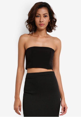 MISSGUIDED black Bandeau Top 586C5AA7D54248GS_1