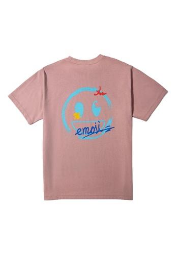 Emoji pink CLOUDS TEE 473D4AAAAA8806GS_1