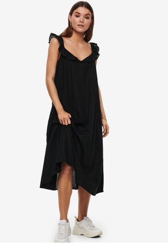 ONLY black Allie Life Strap Above Calf Dress 03915AA3CD68B8GS_1