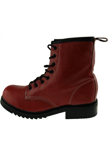 Maxstar 紅色 新款韩国鞋303-Walker時尚皮革布混合女紅色 US Women Size MA345SH81HBQTW_1