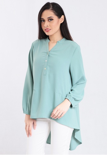 shop for super cute 2020 Long Sleeve Blouse with Tails