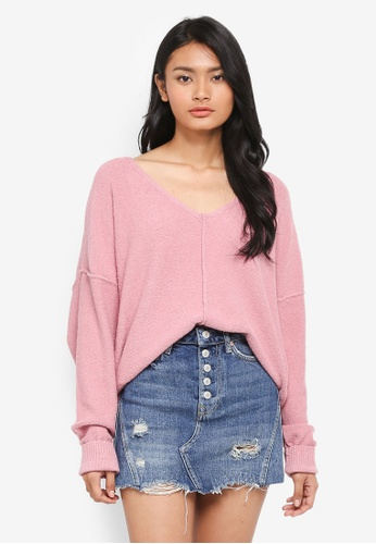 Free People pink Take Me Places Pullover DD02DAA5551850GS_1