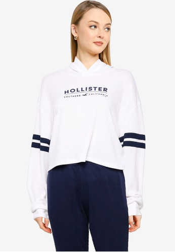 Hollister white Long Sleeves Hoodie 1EC79AAB212A6EGS_1