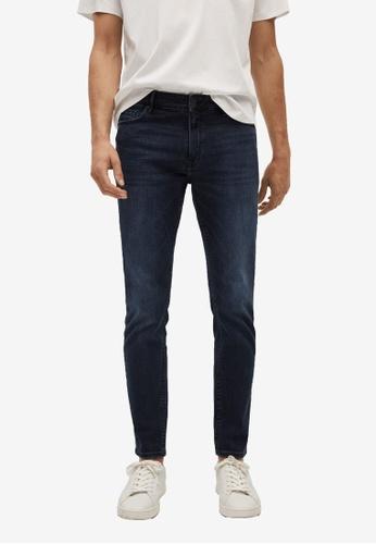 MANGO Man blue Skinny Dark Jude Jeans 41051AA84E6F61GS_1