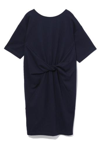 b+ab navy Twisted dress 9586DAAA241551GS_1