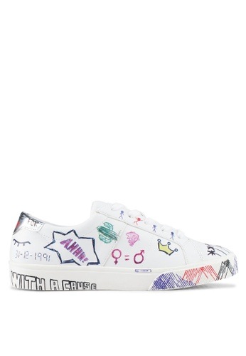 Mango white Doodles Design Sneakers 1EEADSH5A5F701GS_1